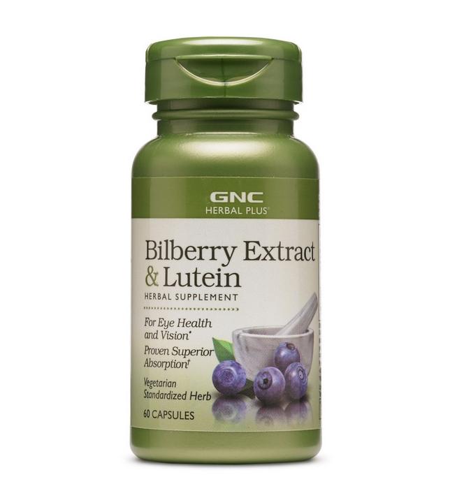 GNC 護眼藍莓葉黃素複合精華特強護眼抗氧化 Herbal Plus® Bilberry Extract & Lutein 100mg (60粒)