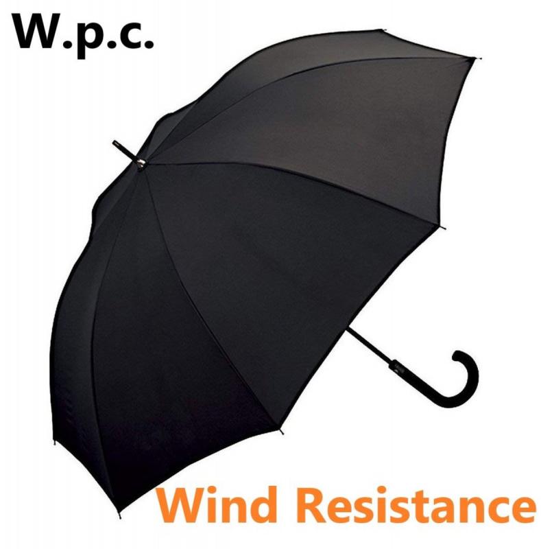 W.P.C. - 黑色(MSA-900) - 日本防風防反防UV半自動長雨傘