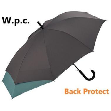 W.P.C. - (MSU-030)日本防背部沾濕加長保護半自動長雨傘 - 深灰色