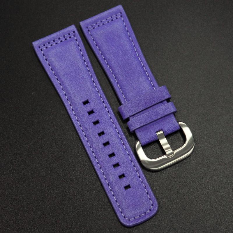 28mm SevenFriday 紫色牛皮錶帶