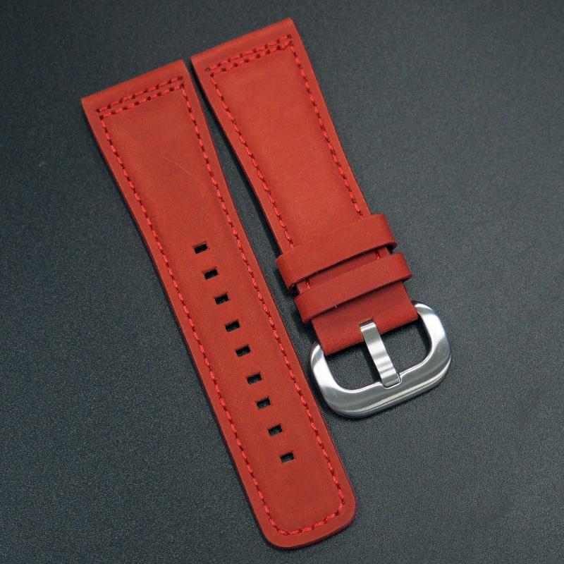 28mm SevenFriday 紅色牛皮錶帶