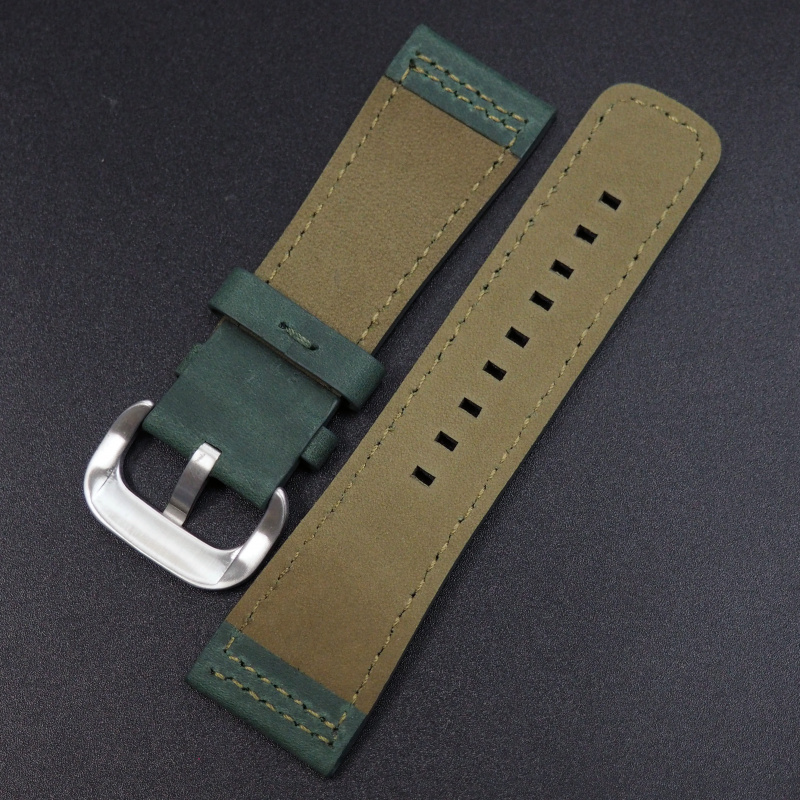 28mm SevenFriday 獵人綠色牛皮錶帶
