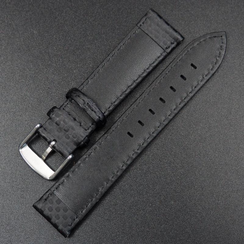20mm 黑色碳纖維錶帶