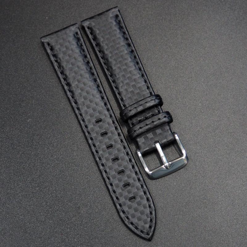21mm 黑色碳纖維錶帶