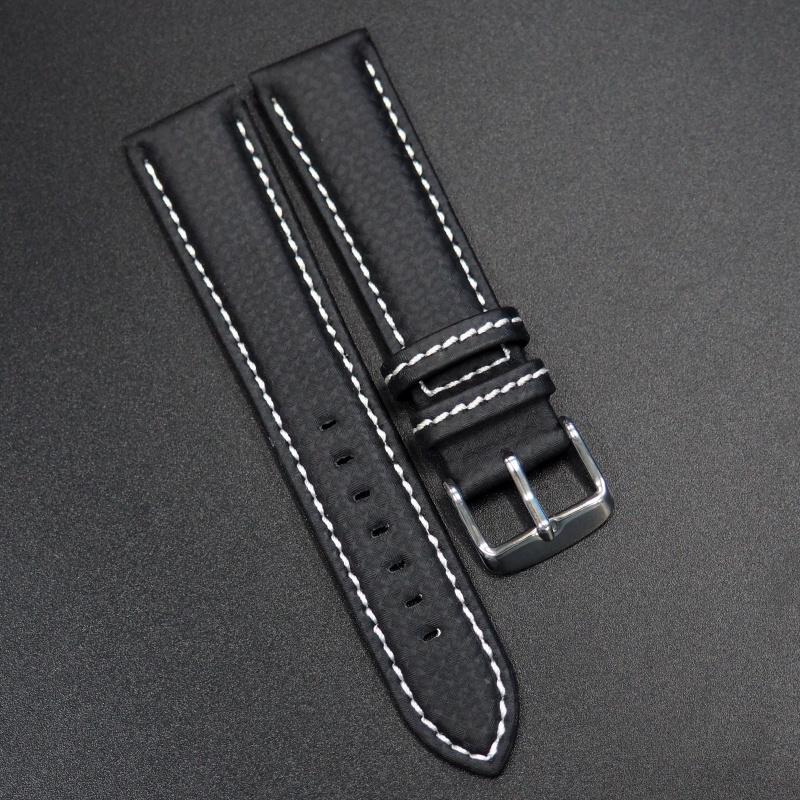 黑色碳纖維白車線錶帶