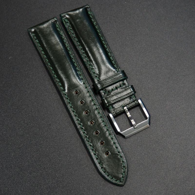 20mm 綠色馬臀皮錶帶