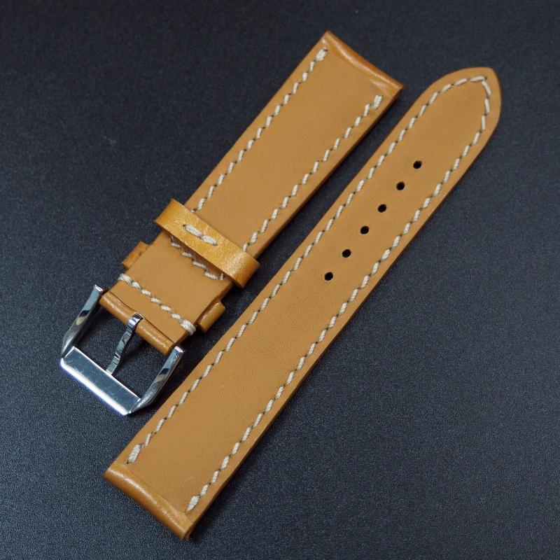 20mm 棕色馬臀皮錶帶