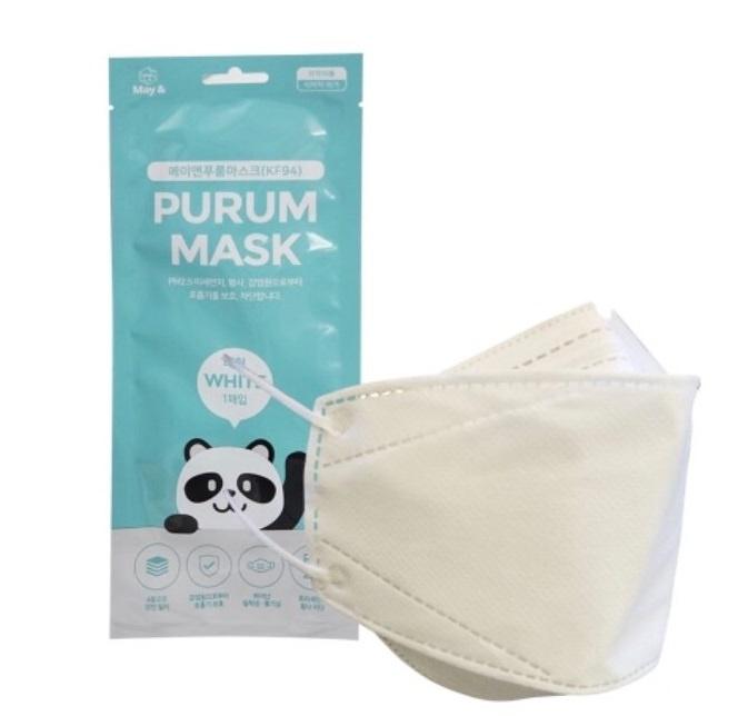 韓國 PURMA KF94 4層立體口罩(白色) [1個獨立包裝]
