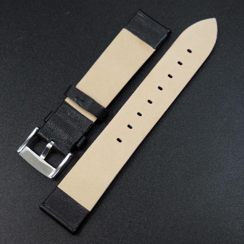 14mm, 16mm, 18mm 黑色牛皮錶帶