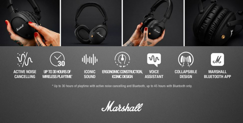 Marshall Monitor II A.N.C. - Noise Cancelling Headphones