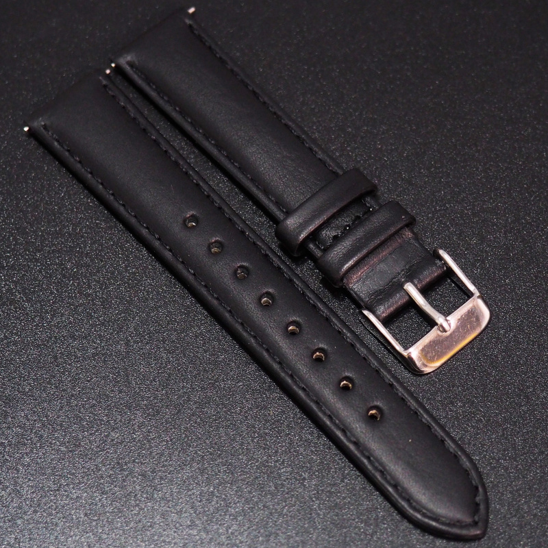 18mm 黑色意大利牛皮快拆錶帶