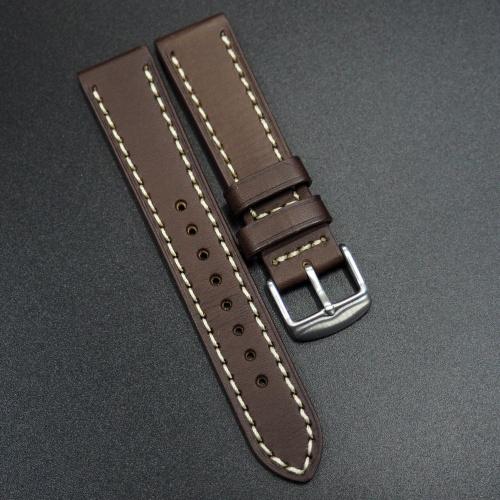 18mm, 20mm 暗棕色意大利牛皮錶帶