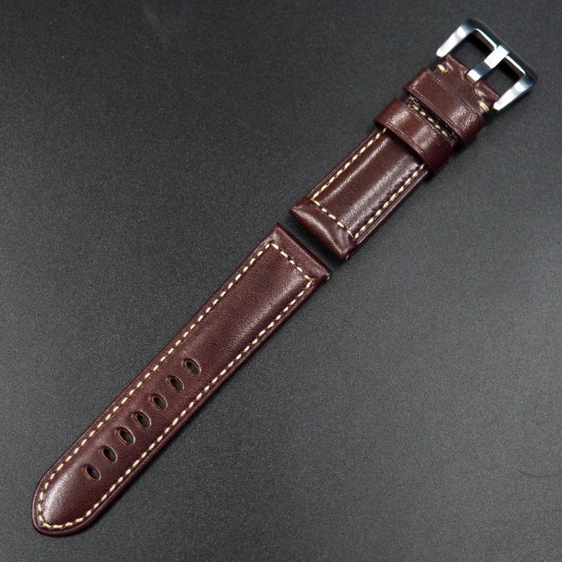 20mm, 24mm Panerai 紅色優質牛皮代用錶帶