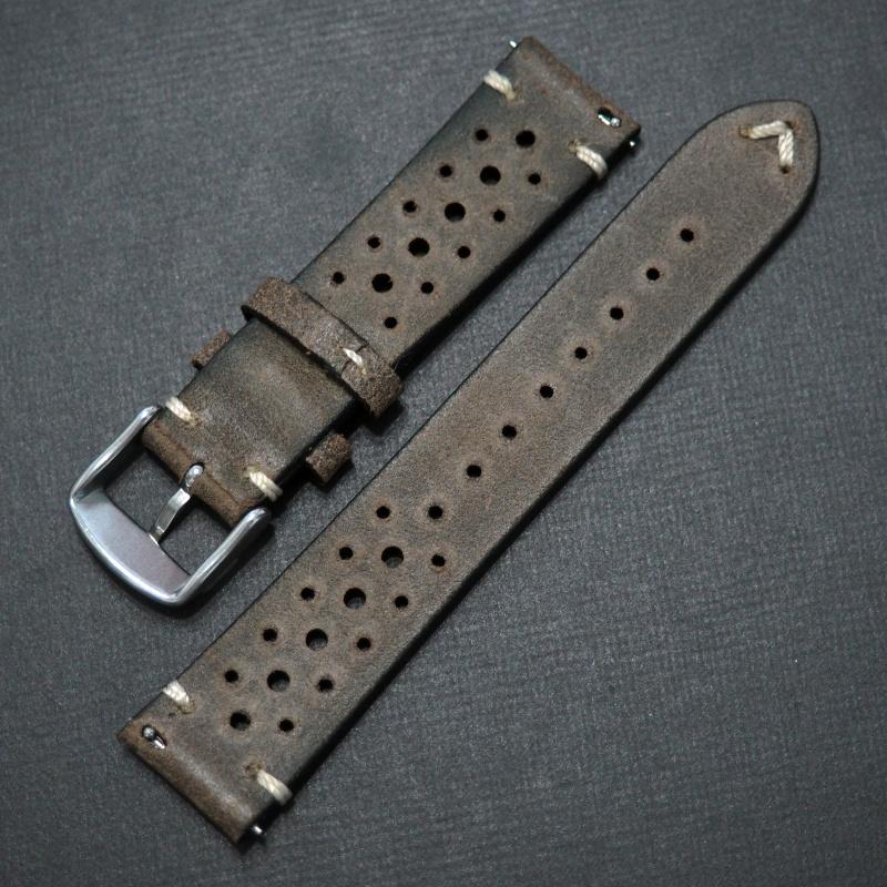 20mm 棕色意大利牛皮錶帶