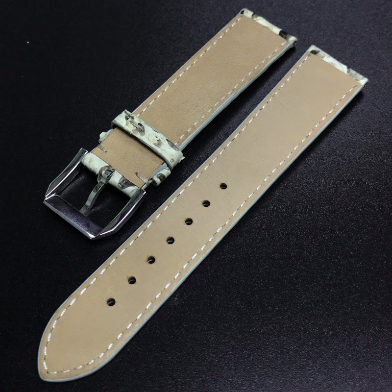 20mm 白色/黑色蛇皮錶帶