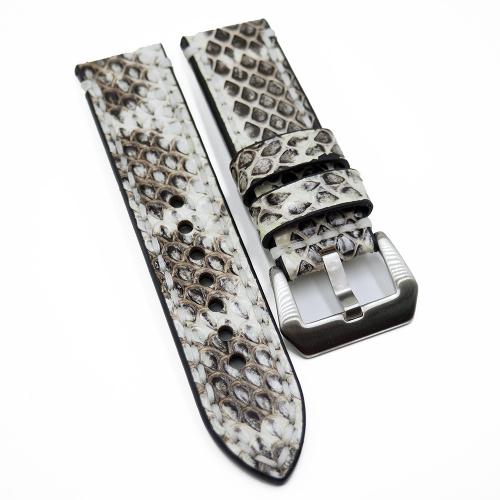 20mm, 24mm 白色蟒蛇皮錶帶