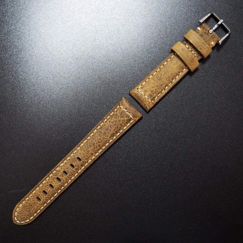 20mm 牛皮錶帶配針扣
