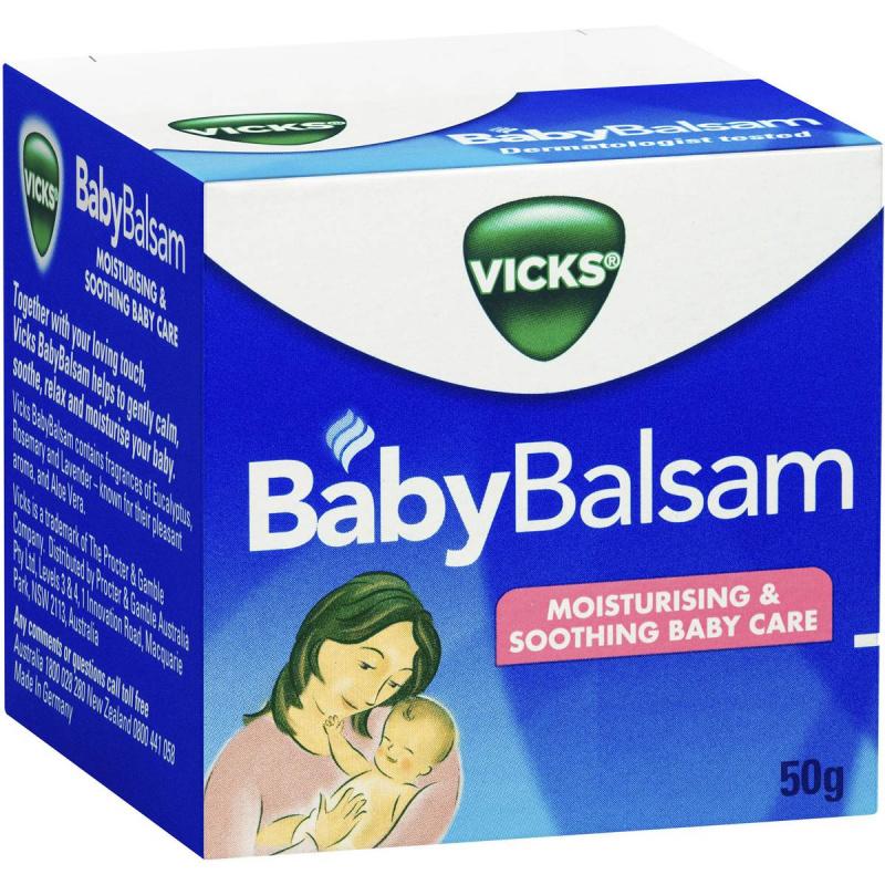 Vicks BabyRub嬰幼兒傷風感冒舒緩膏50g