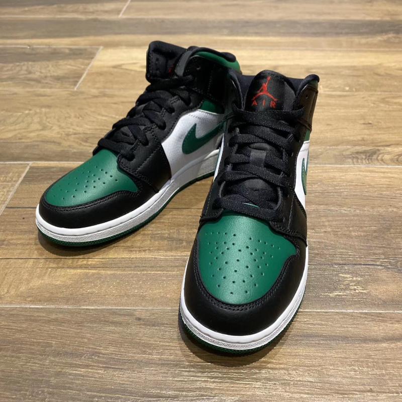 """Nike Air Jordan 1 Mid """"Green Toe"""" GS 554725-067 [女裝鞋]"""