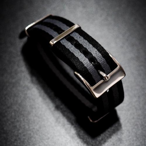 20mm Omega Nato 黑/灰高質尼龍錶帶