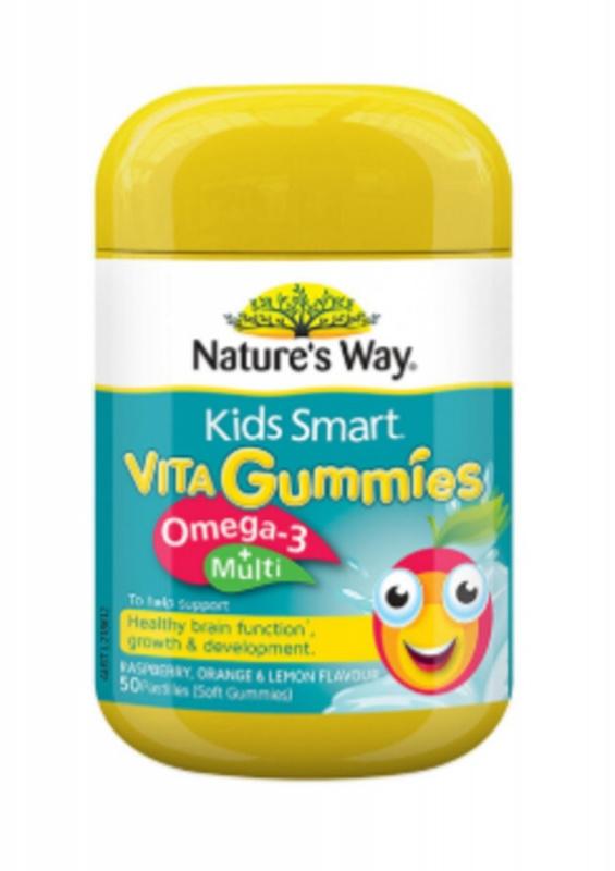 Nature's Way - 佳思敏 Kids Smart 兒童複合維生素+魚油軟糖 50粒