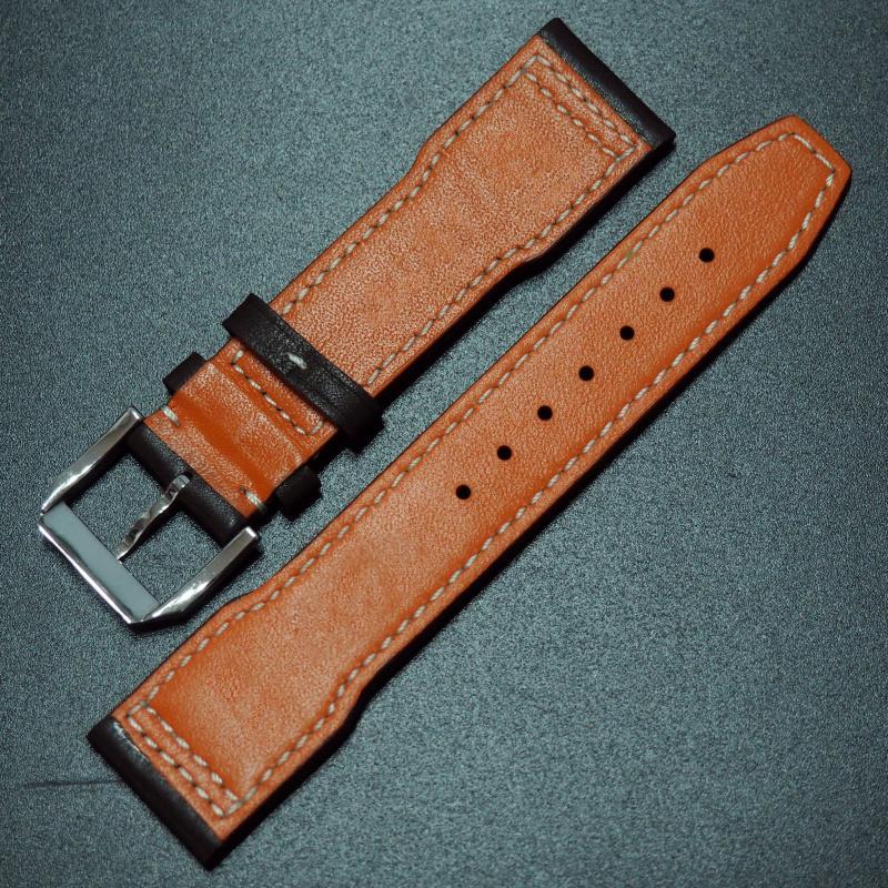 20/21mm IWC 暗棕色優質牛皮錶帶