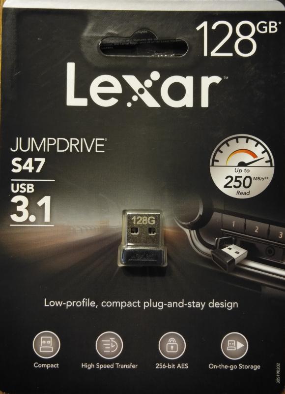 Lexar S47 USB3.1 flash drive, 128GB