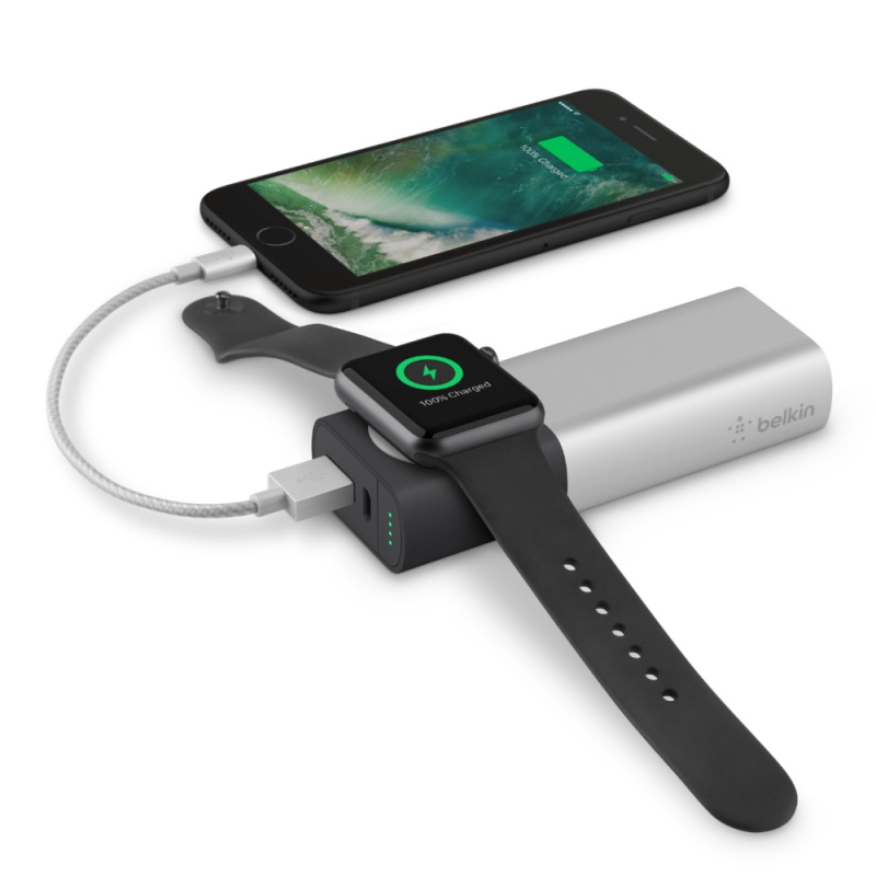 Belkin Valet Charge Power Pack 6700 mAh Apple Watch +  iPhone 行動充電器 F8J201btSLV
