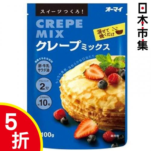 日版 日本製粉世紀品牌 Crepe可麗餅 輕鬆烘焙預拌粉 100g