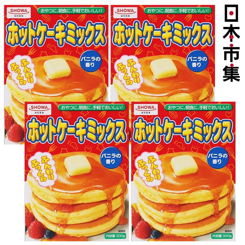 日版 昭和産業 熱香餅 班戟粉盒裝 300g (4件裝)【市集世界 - 日本市集】