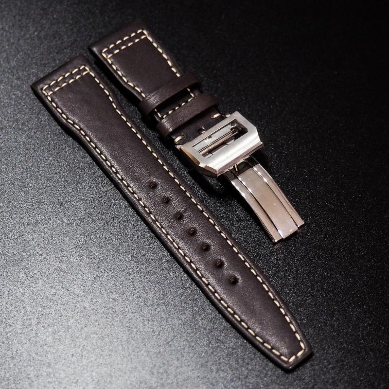 21mm IWC 飛行員暗棕色牛皮錶帶