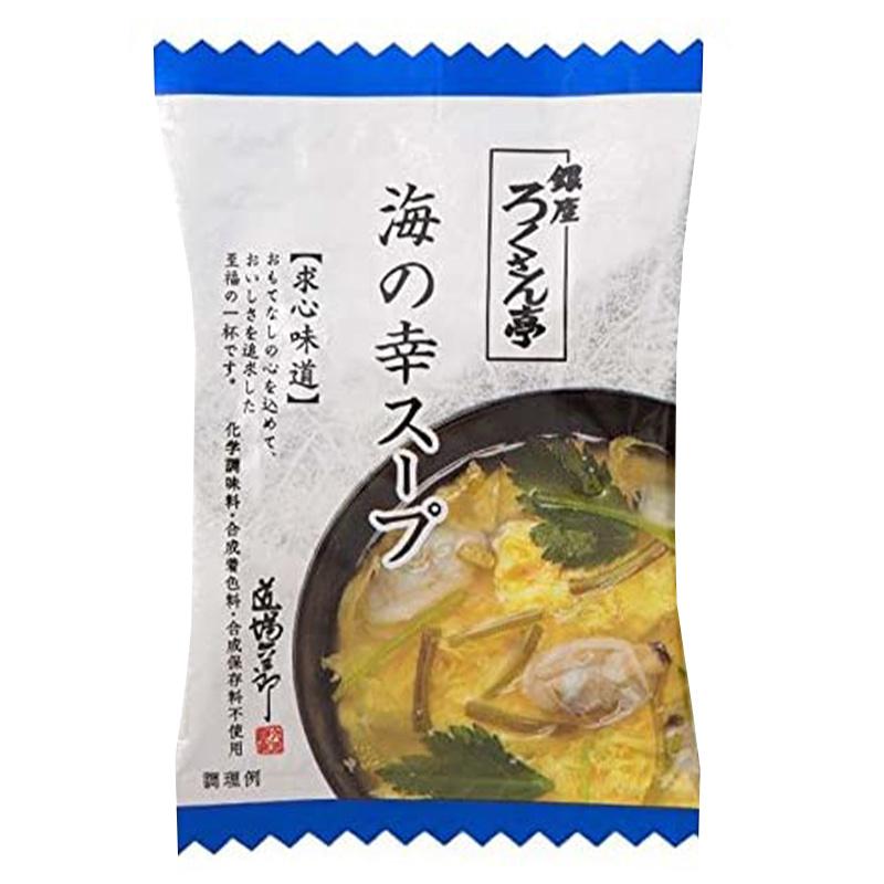 日本【銀座ろくさん亭】道場六三郎 蜆肉蛋花湯 (5包裝)【市集世界 - 日本市集】