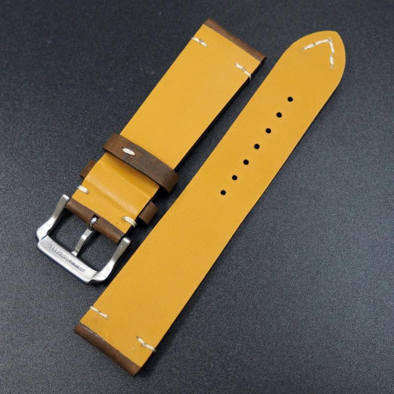 22mm Breitling 經典合桃棕牛皮錶帶