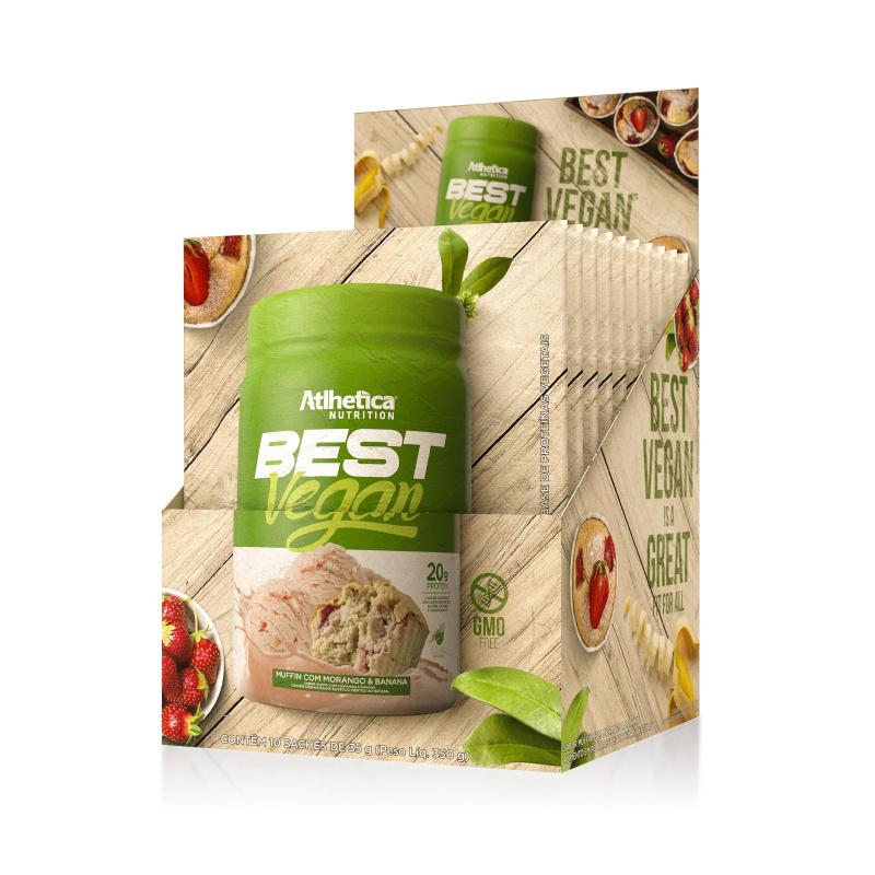 BEST VEGAN全素超級食物蛋白粉 (士多啤梨香蕉) (獨立包裝) 35克/包