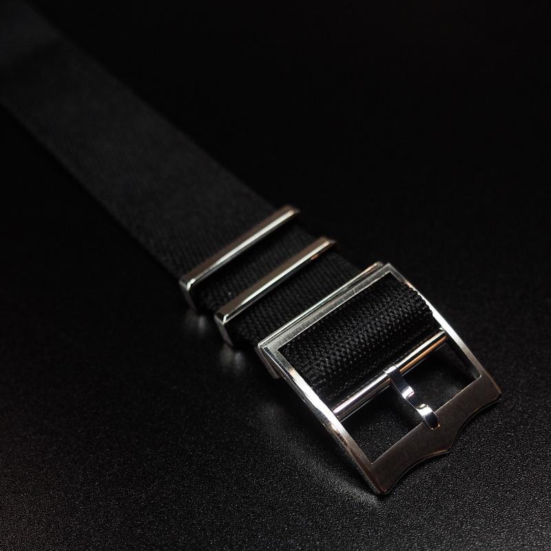 22mm Tudor 黑色優質尼龍錶帶