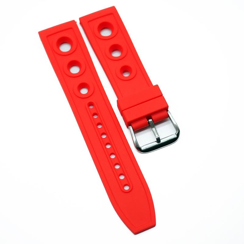 22mm, 24mm Breitling 紅色代用膠錶帶