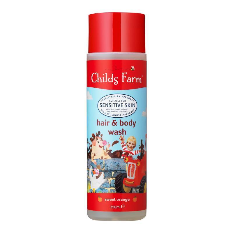 childs farm 防濕疹二合一洗髮沐浴露 - 甜橙味 250ml