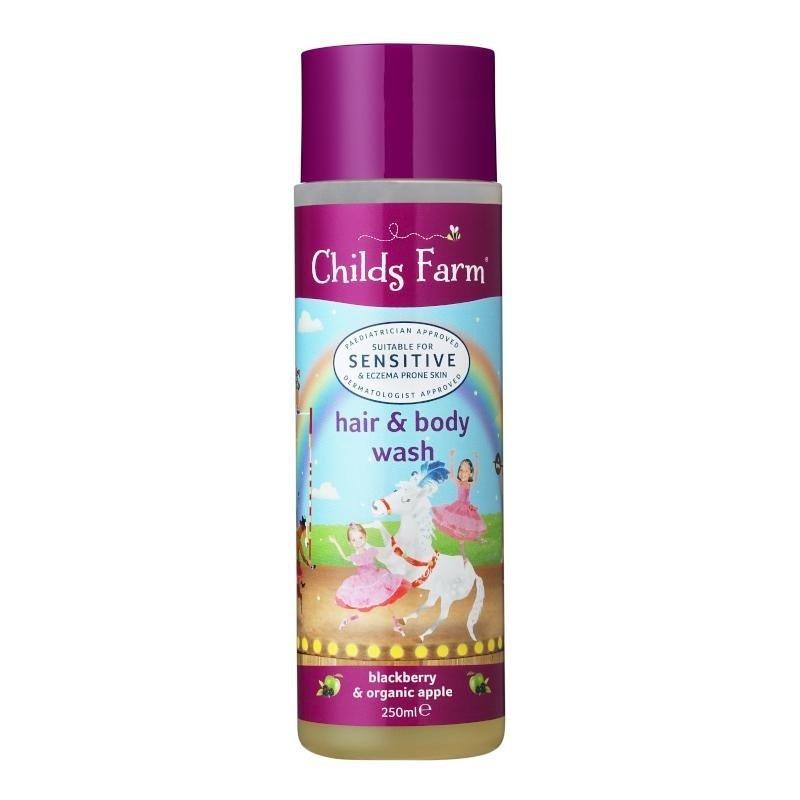 childs farm 防濕疹二合一洗髮沐浴露 - 黑莓及有機蘋果味 250ml