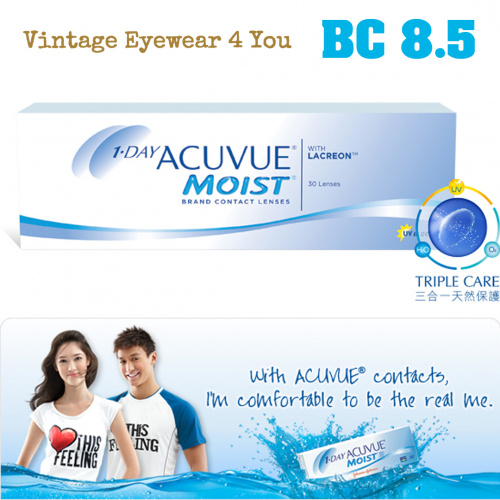 1 • DAY ACUVUE Moist BC(彎位)8.5 10片散裝隱形眼鏡