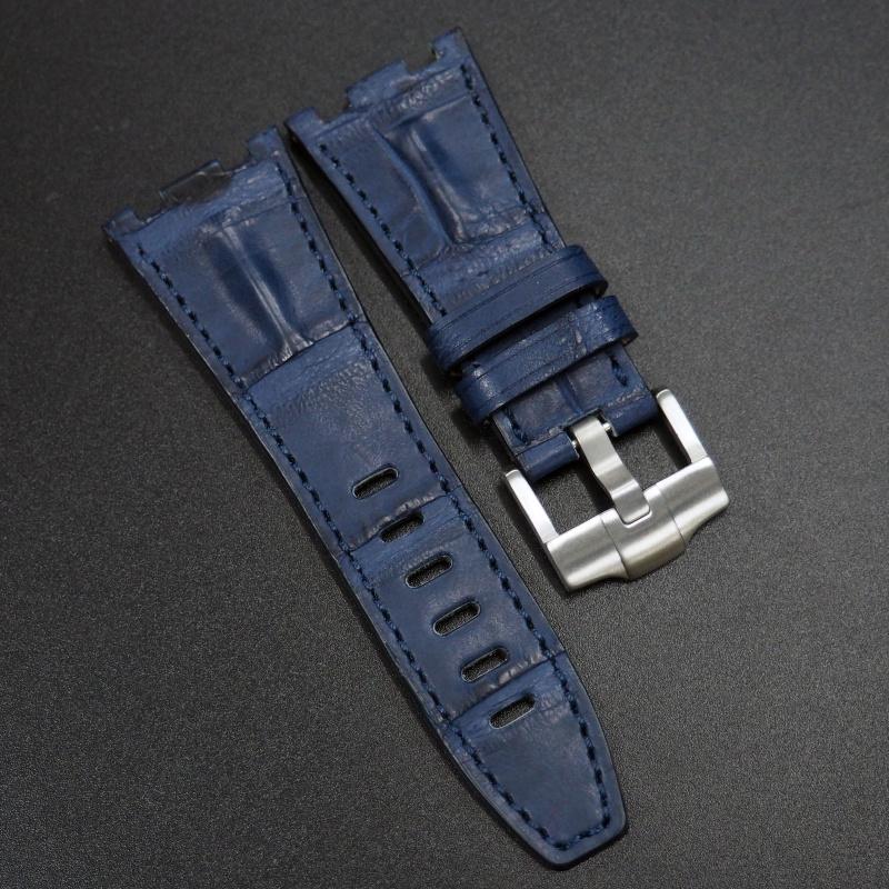 28mm 優質太空藍鱷魚皮錶帶 適合Audemars Piguet Royal Oak Offshore