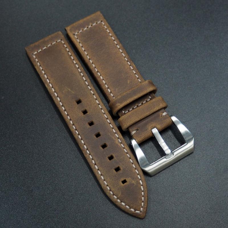 23mm Zenith Style 棕色牛皮代用錶帶