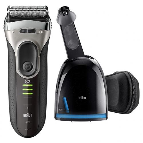 Braun Series 33090cc 電鬚刨連自動清洗座 [黑色]