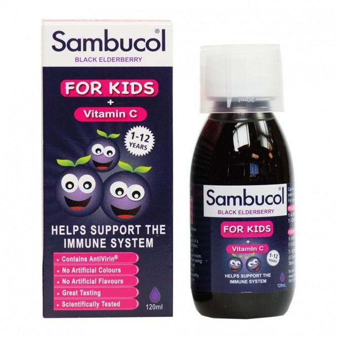 Sambucol 兒童黑接骨木漿 For Kids 120ml英國版