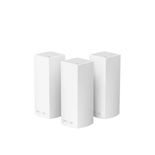Linksys 三頻 Velop Mesh WiFi 系統 路由器 [3件裝] [AC6600] [WHW0303] (送Belkin4位防雷保護器拖板)