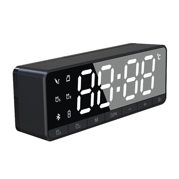 TSK 鏡面鬧鐘FM收音無線藍牙插卡喇叭