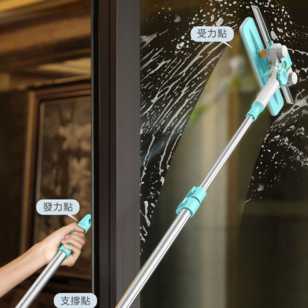 日本TSK - 創意彎曲把手玻璃刮清潔器