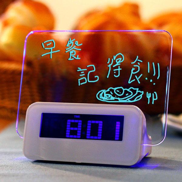 日本TSK - LED熒光留言板鬧鐘