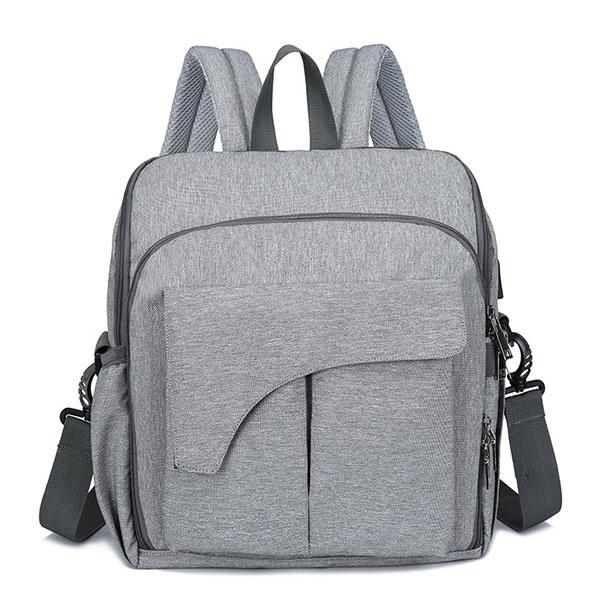 TSK - 淺灰色母嬰背包