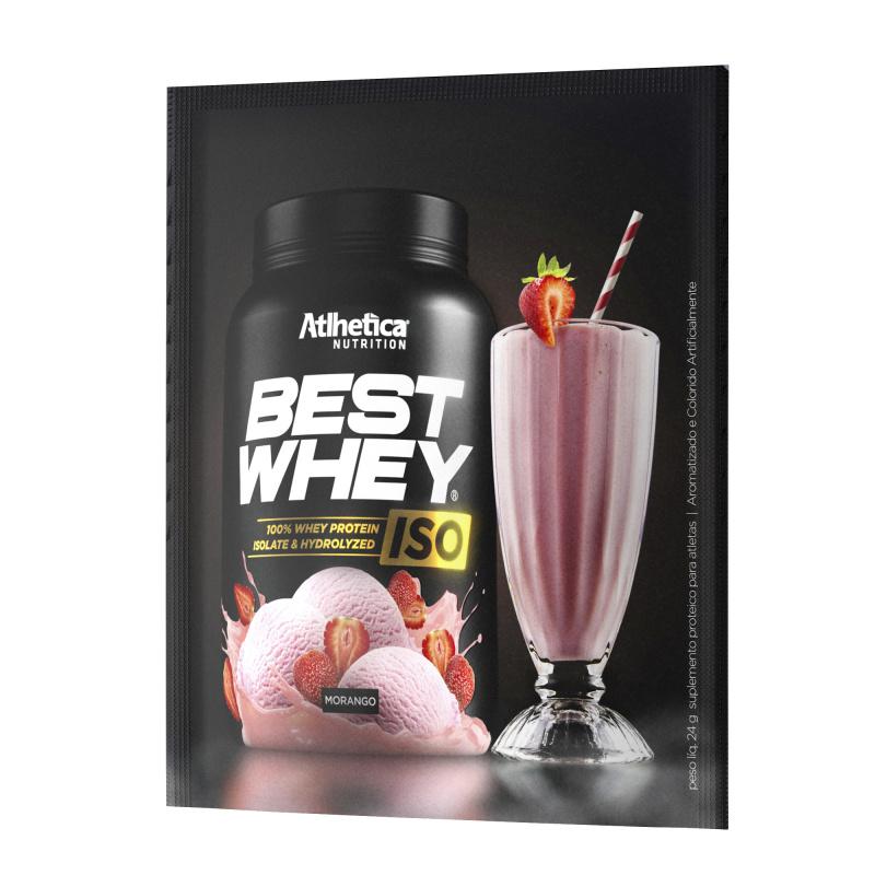 BEST WHEY ISO 分離+水解蛋白粉 (士多啤梨奶昔) (獨立包裝) 24克/包