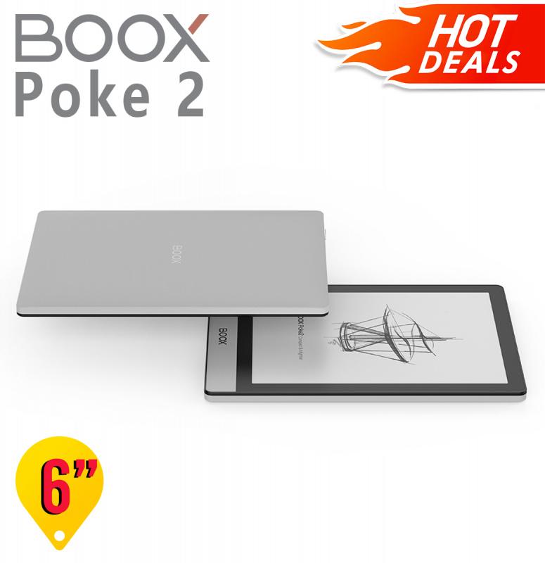 【預售】 BOOX Poke2 6'' 最輕薄電子閱讀器【Price專屬優惠】:原裝價值$198,保護套+AG防眩光磨砂保護貼